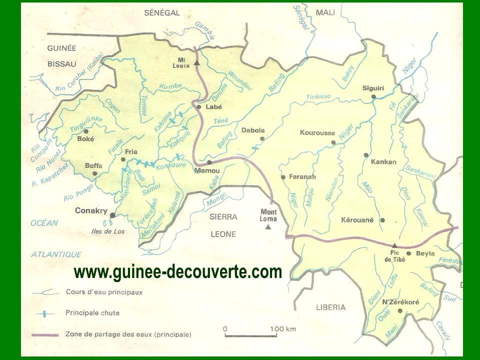 Carte Hydrographique Inde.Hydrographie De La Guinee Guinee Decouverte